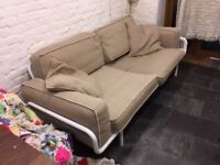 A wonderful beige 3 seater sofa, good condition, dismantles down for putting in the car.