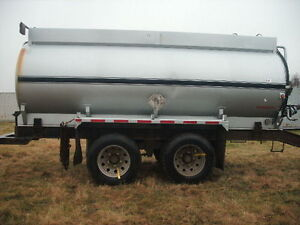 2004 JASPER stainless Fuel Trailer, pintle hitch