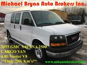 2015 GMC SAVANA 2500 CARGO VAN *ONLY 29K* GREAT PRICE