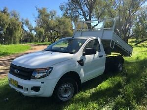 2012 Ford Ranger PX XL 2.2 (4x2) White 6 Speed Manual Cab Chassis Coonamble Coonamble Area Preview