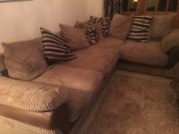 Harvey's corned corner sofa and matching armchair. Delivery