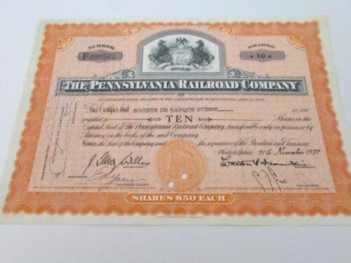 Vintage Railroad Stock Bond Certificate # 6 expired