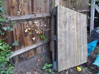 Pallet with garden decking