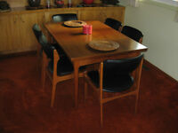 Teak Mid-Century Danish Dining Table & 8 Chairs