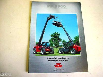 Massey Ferguson 8900 Telescopic Handlers 2001 12 Pages Brochure