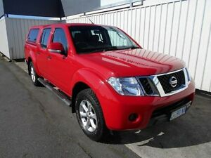 2012 Nissan Navara D40 MY12 ST (4x4) Flame Red 6 Speed Manual Dual Cab Pick-up South Burnie Burnie Area Preview