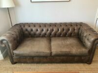 3 seater 'Old Boot - Historian' Brown Leather Chesterfield Sofa Bed (RRP £2590)