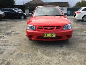 2001 Hyundai Accent Red Manual Hatchback Merrylands Parramatta Area Preview