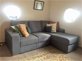 Corner Sofa with Chaise 3 seats - DISMANTABLE: can go through any staircase