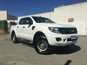 2012 Ford Ranger PX XL 2.2 (4x4) White 6 Speed Automatic Crewcab Beckenham Gosnells Area Preview