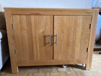 Solid Oak Sideboard with internal shelf.