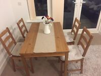 Bargain Urgent Ikea table and 4 chairs set