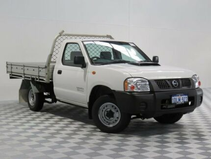 2010 Nissan Navara D22 MY08 DX White 5 Speed Manual Cab Chassis Atwell Cockburn Area Preview
