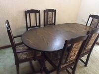 dining table, 6 chairs and a glass top coffee table for immediate clearnace.