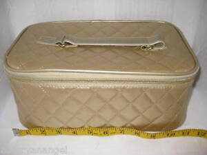 New Gold Elizabeth Arden Cosmetic Makeup Carrying Case Bag Tote Container Travel