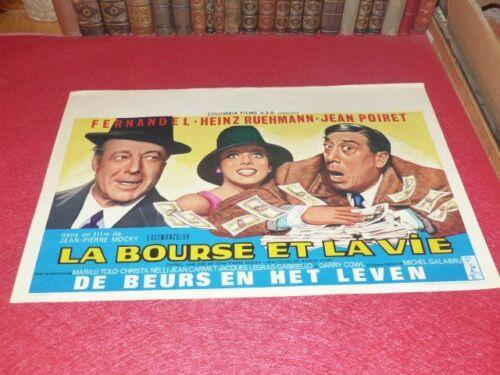 Cinema Poster Original Belgian - The Purse & Life Mocky Fernandel M. Aymé 1966