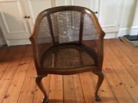 Elegant Edwardian style claw-footed occasional chair