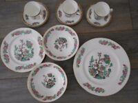 Indian Tree Plates Bowls Cups & Saucers Bundle