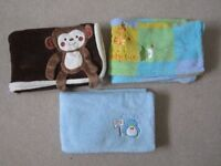 BABY BLANKETS ($4 each or $10 for all) – in excellent condition