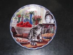 Cat Collectible Plates and Figurines
