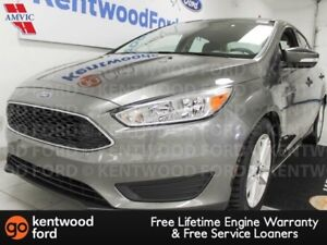 2017 Ford Focus SE FWD with a back up cam. It's a silver bullet