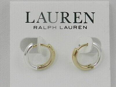 Lauren Ralph Lauren Two-Tone Huggie Small Hoop Earrings s