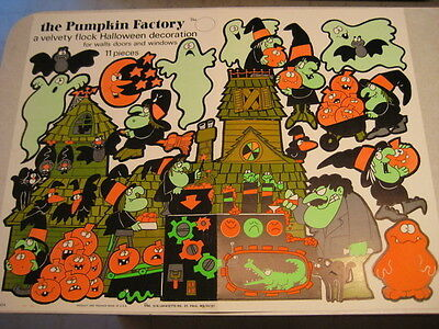 VINTAGE HALLOWEEN Paper Punch Outs Witches Ghosts Bats