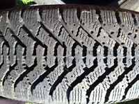 Two Winter Tires - 195/70R14 - Goodyear Nordic