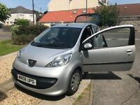 Peugeot 107 for sale. Family owned car from new. Cheap, clean and reliable. Great for a first car