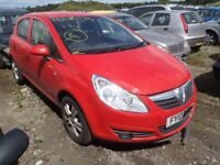 VAUXHALL CORSA D RED FRONT BUMPER 2007 2008 2009 USED