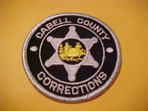 CABELL COUNTY W.V. CORRECTIONS POLICE PATCH SHOULDER SIZE UNUSED 3 X 3 INCH