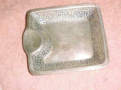 TIFFANY antique ASHTRAY  -  FLORAL BORDER  -  19099   9903
