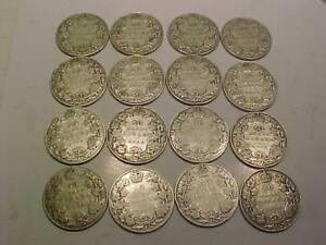 16 CANADIAN 50 CENT PIECES DIFFERENT  DATES-- 1904 TO 1920-PACKAGE SALE-$144.00  PICK UP ONLY