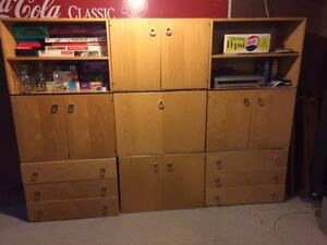 Solid Maple Wall Unit