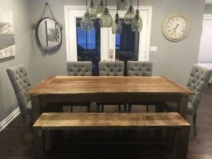 Reclaimed Harvest Tables and Benches
