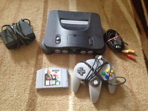 N64 nintendo 64 with all cable 1 games
