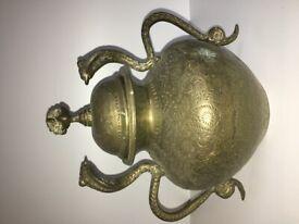Cobra Snake Sharped brass bowl