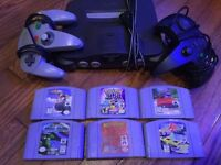 Nintendo 64, 2 controllers & 6 games - works perfectly