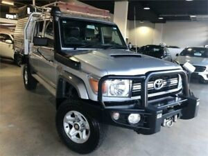 2016 Toyota Landcruiser VDJ79R GXL Silver Manual Cab Chassis Caringbah Sutherland Area Preview