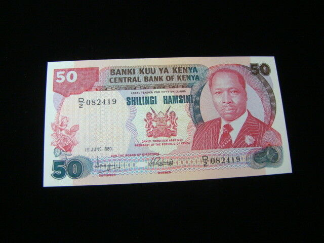 Kenya 1980 50 Shillings Banknote Gem Unc. Pick #22a