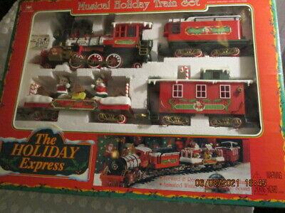 Christmas Train Set The HOLIDAY EXPRESS Animated 1996 New Bright animated bears