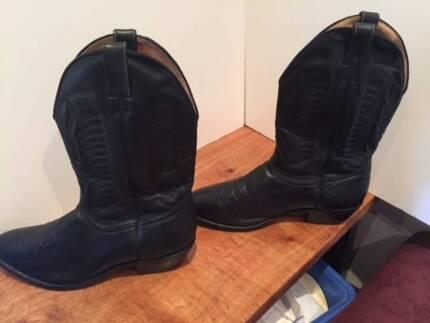 Men's Boulet Leather Cowboy Boots - Size 13
