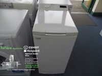 EX-DISPLAY WHITE 7 KG 1200 SPIN TOP LOADING HOTPOINT WASHING MACHINE REF: 13008