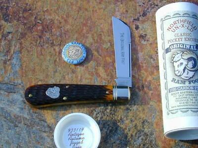 GREAT EASTERN GEC NORTHFIELD AUTUMN JIG BONE RAM FOOT KNIFE RARE 1/597 MIT 93