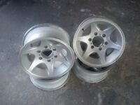 VAUXHALL FRONTERA 15 INCH ALLOY WHEELS