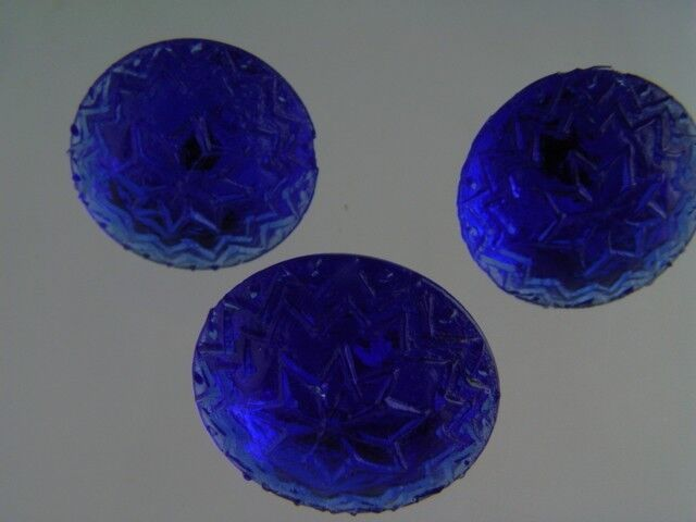 MARVELOUS COBALT BLUE GLASS PICTURE HANGERS