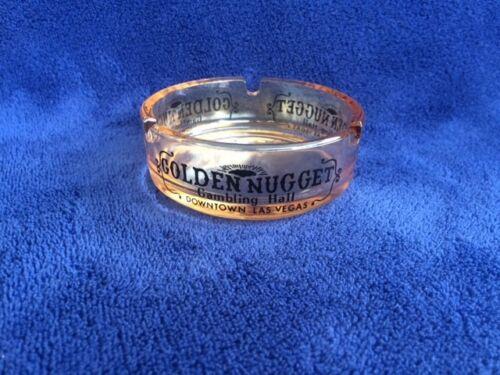 Golden Nugget Gambling Hall - Las Vegas Nevada VINTAGE Casino Glass Ashtray