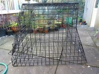 USED dog car cage- hamster cages brand