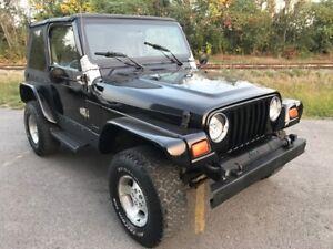 1999 Jeep Wrangler TJ Financement 100% Approuvé Aucun Cas Refusé