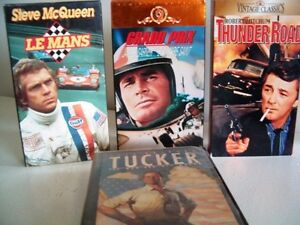 Car racing movies Grand Prix Le Mans Thunder Road + more on VHS